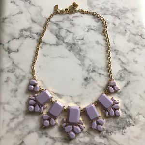 Kate Spade purple lavender statement necklace